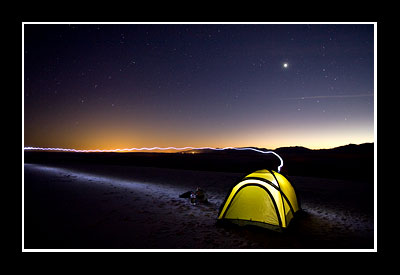 Camping at White Sands National Monument, New Mexico