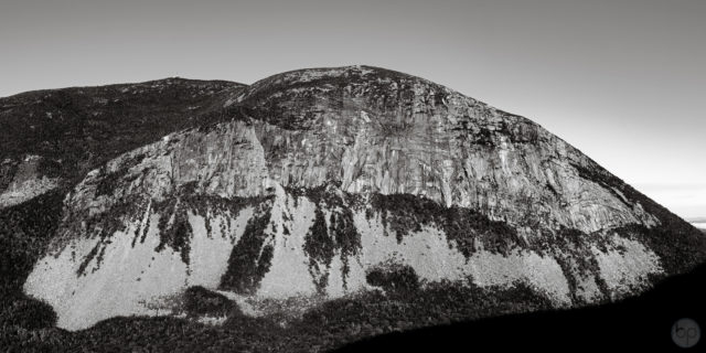 Black & White Panorama of Cannon Cliff in Franconia Notch, New Hampshire