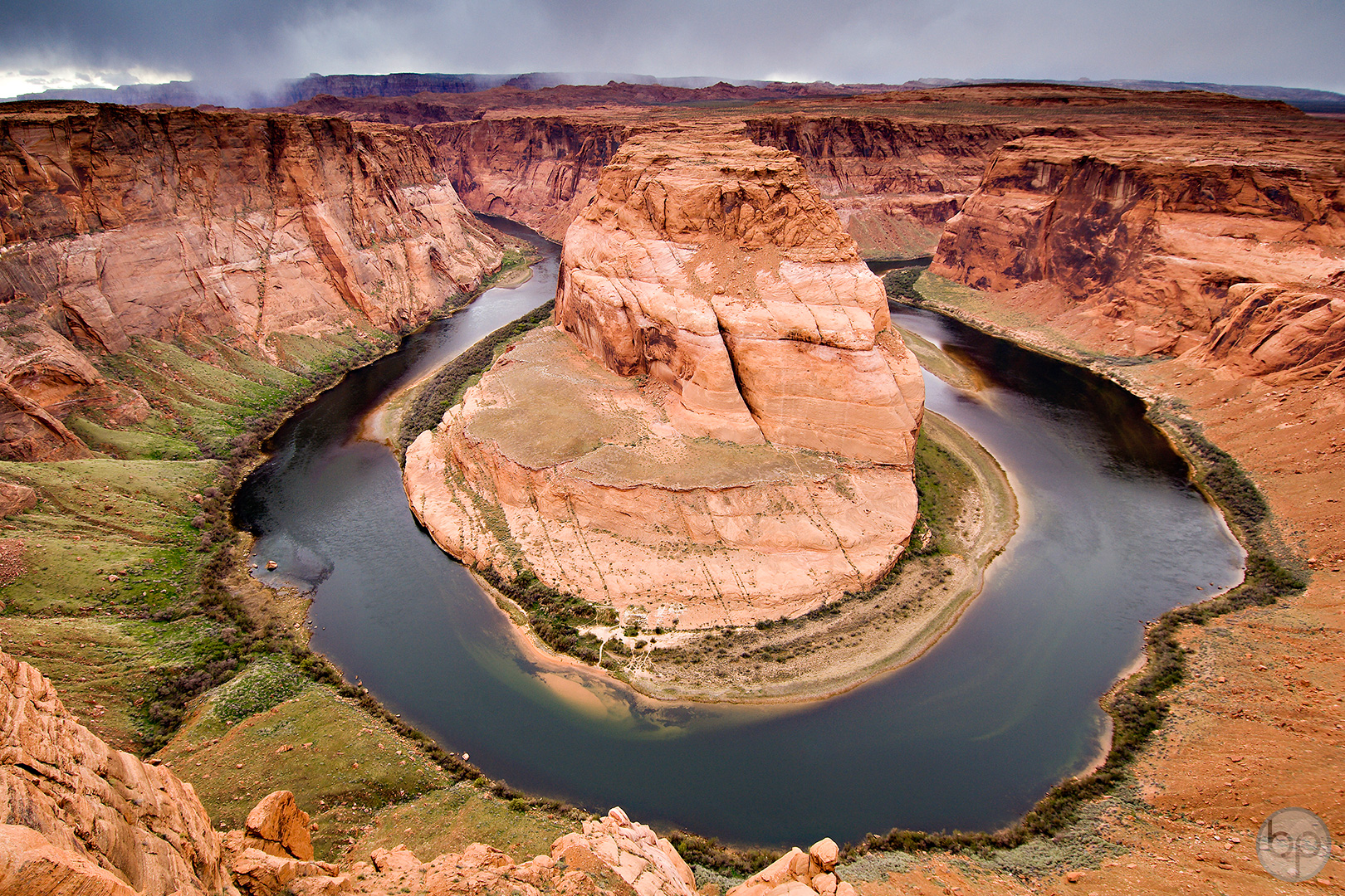 Horseshoe Bend on the Colorado River near Page, Arizona.